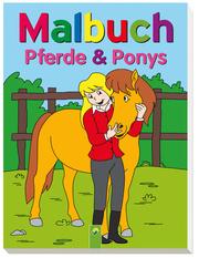 Malbuch Pferde und Ponys