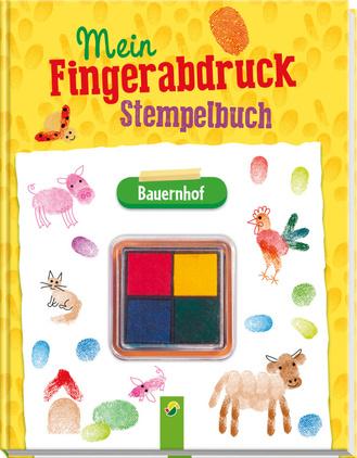 """Cover des Buches """"Mein Fingerabdruck-Stempelbuch - Bauernhof"""""""