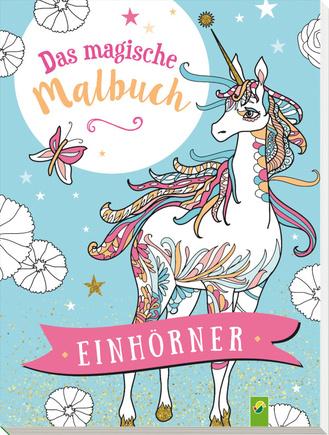 """Cover des Buches """"Das magische Malbuch Einhörner"""""""