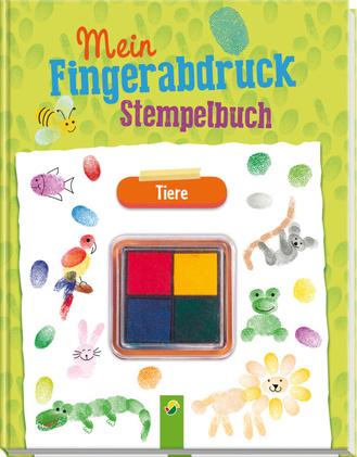 """Cover des Buches """"Mein Fingerabdruck-Stempelbuch - Tiere"""""""