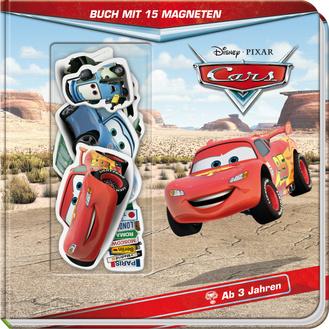 """Cover des Buches """"Disney Cars - Buch mit 15 Magneten"""""""