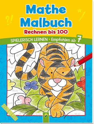 """Cover des Buches """"Mathe Malbuch - Rechnen bis 100"""""""
