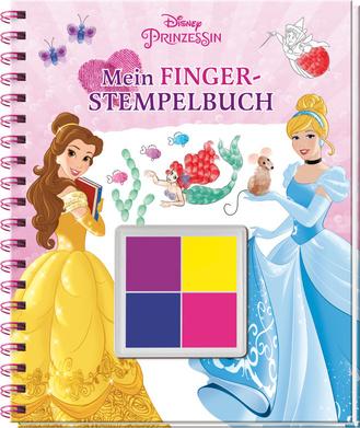"""Cover des Buches """"Disney Prinzessin - Mein Fingerstempelbuch"""""""