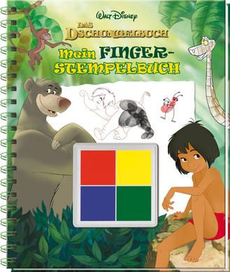 """Cover des Buches """"Disney Dschungelbuch - Mein Fingerstempelbuch"""""""