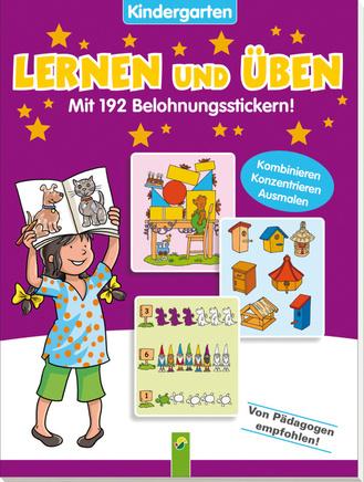 """Cover des Buches """"Lernen und Üben - Kindergarten (lila)"""""""