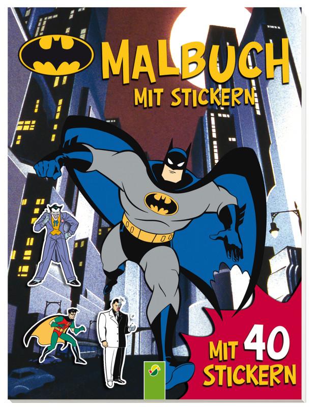 Batman - Malbuch mit Stickern - Schwager & Steinlein Verlag GmbH